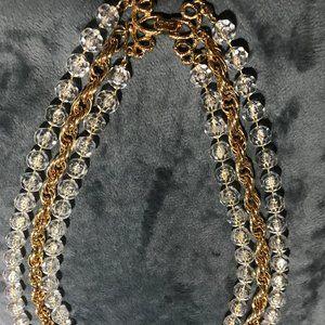 Sarah Coventry three strand necklace